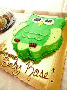 owl baby shower cakes   This OWL cake tastes soo good!!! It is a raspberry twirl cake!