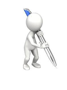 presenter media stick figure - write with pen