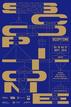 Visuel de l'édition 2014 du Festival Scopitone