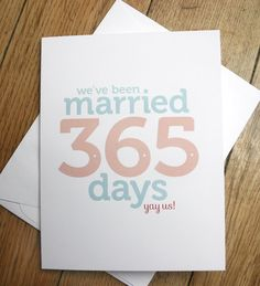 Change to the correct number of days = 16436 days. First Wedding Anniversary card by thunderpeep on Etsy, $4.00
