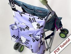 ♥ Reversible Stroller Tote Bag Sewing Pattern by Tutorial Girl  ♥ Fixing Sewing Machine Tension Video by Professor Pincushion #sewing #pdfpatterns #sewingmachines