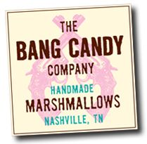 Bang Candy Company, Nashville...awesome homemade marsmallows in flavors like chocolate chile, chocolate espresso, and ginger cardamon...they melt in your mouth!