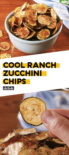 Ranch Zucchini Chips Cool Ranch Doritos lovers: prepare to freak out over these zucchini chips. Get the recipe at .Cool Ranch Doritos lovers: prepare to freak out over these zucchini chips. Get the recipe at . Low Carb Recipes, Diet Recipes, Snack Recipes, Cooking Recipes, Healthy Recipes, Healthy Chips, Simple Recipes, Greek Recipes, Keto Snacks