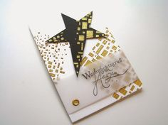 No°199 im Papierbezirk: Christmas card in white black and gold