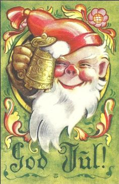 Thor Wiborg Norwegian Christmas, Christmas Cards, Christmas Postcards, Trondheim, Gnomes, Thor, Norway, Auction, Princess Zelda