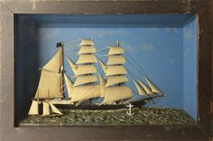 """Antique Shadow Box of the Vessel """"Swansea""""   July 2, 2016 Auction at Rafael Osona Auctions Nantucket, MA"""