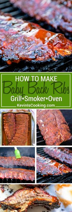 How to Make Baby Back Ribs that are tender, fall off the bone good! Summer isn't the only time for barbecued ribs, so here is a easy, delicious, step by step Baby Back Rib recipe. Although who needs a season to BBQ, right? #ribs #babyback via @keviniscooking
