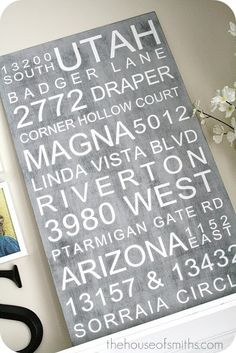 good idea! subway art of all the addresses where you have lived