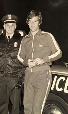 Bobby Orr and a Boston Police Officer.