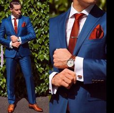 Navy Blue Suit Red Tie And Brown Shoes Wedding Ideas Pinterest
