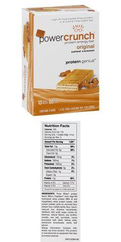 Power Crunch Original Protein Energy Bar (Salted Caramel, Oz, 5 Ct, Pack Of Protein Energy, Energy Bars, Protein Bars, Power Crunch, Trans Fat, Saturated Fat, Cholesterol, Caramel, Packing