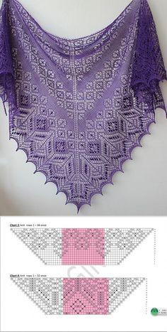 "Knitting: Shawls, Wraps Posts by topic ""Knitting: Shawls, Stoles"", added by Svetlana Kalin Record of Knitting Yarn spinning, weaving a. Lace Knitting Patterns, Shawl Patterns, Lace Patterns, Knitting Stitches, Knitting Yarn, Free Knitting, Knitting Needles, Crochet Chart, Knit Crochet"