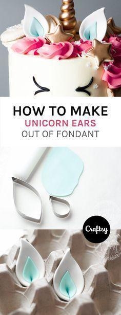 The latest cake decorating trend? These beyond-adorable unicorn cakes! Learn the tips and trips behind how to make your own unicorn ears out of fondant. https://www.craftsy.com/blog/2016/12/unicorn-cake/?cr_linkid=Pinterest_Cake_OP_BLOG_BlogRefer_ears&cr_maid=89991®️MessageId=21&cr_source=Pinterest&cr_medium=Social%20Engagement