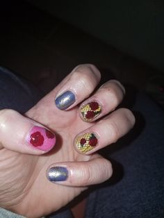 Beauty and the Beast theme Manicure with Native Warpaints March Box and Born Pretty stamping plates