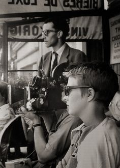 Jean-Luc Godard and Jean Seberg on the set of  BREATHLESS / A bout de souffle (Jean-Luc Godard, France, 1959)