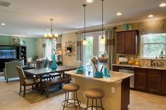 Kitchen in Providence Homes model in Durbin Crossing. New homes for sale in St. Johns County, FL.  |Pinned from PinTo for iPad|
