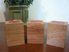 Wood Candle Holder Set of 3/Wedding by DivineRusticCreation, $13.50