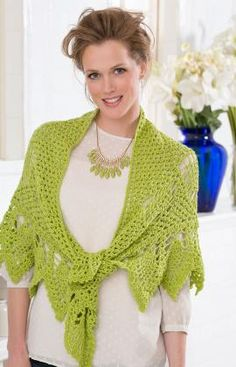 """Free pattern for """"Romantic Pineapple Shawl""""!"""