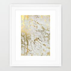 Gold foil marble inspired print on Society6