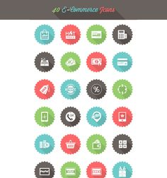 Free eCommerce Icon Set, #AI, #E_Commerce, #EPS, #Flat, #Free, #Graphic #Design, #Icon, #Long_Shadow, #PNG, #PSD, #Resource, #Vector