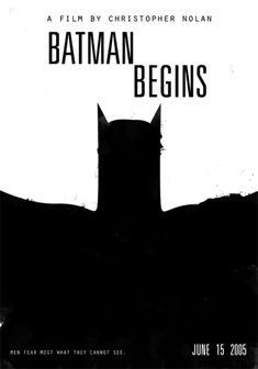 Minimalist Movie Posters-Batman Begins