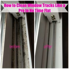 Cleaning window tracks is not only tedious, but it tends to be really gross. No more worries, however, I've got a trick to share with you that is EASY and QUICK. They will be sparkling in NO TIME.