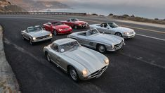 Mercedes-Benz SL Retro First Drive | Our man in Monterey drives four(!) classics Group Action, Four Stroke Engine, Best For Last, Pebble Beach Concours, Classic Mercedes, First Drive, Chevrolet Corvette, Upper Body, Buick