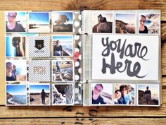 PCH - You Are Here by rukristin at @Studio_Calico Love all the small square photos! Great for when you have lots to share. :)