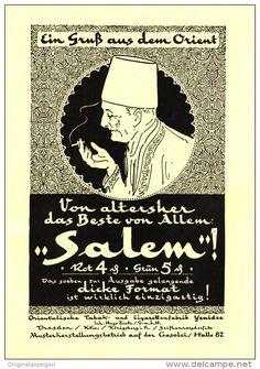 Original-Werbung/ Anzeige 1926 - SALEM CIGARETTEN / YENIDZE DRESDEN -  ca. 220 x 150 mm