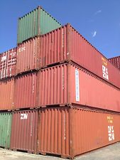 40 HC steel cargo shipping storage container Long Beach CA California containers