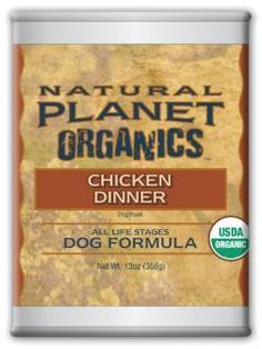 Natural Planet Organic Chicken Dog Food 12/13OZ
