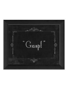 Silent Movie Gasp by Artwork Enclosed at Gilt