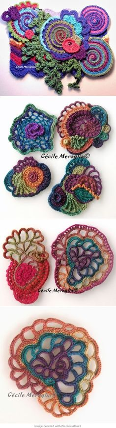 crochet - freeform scrumbles -- I've been wanting to learn to freeform crochet for a while now: