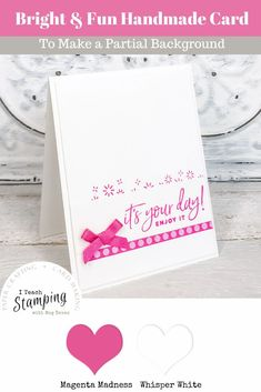 Today we are sharing one of our super simple card ideas that is not just quick and easy but uses very few supplies. It's perfect for when you need that papercrafting fix AND a sweet card to share with a friend! Handmade Greetings, Greeting Cards Handmade, Handmade Card Making, Little Bow, Diy Craft Projects, Diy Crafts, Baby Bows, Free Paper, Birthday Cards
