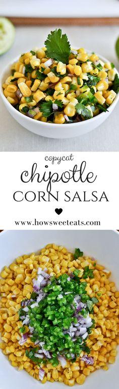 just like chipotle's corn salsa by @howsweeteats I howsweeteats.com