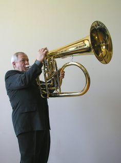 This instrument was designed by Robb Stewart. The idea behind it was to have a tuba sized flugel horn. The Fluba's sound is supposedly very mellow, a bit brighter than the tuba, and a bit darker than the contra-bass trumpet.