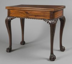 Card Table  Attributed to Benjamin Randolph, American, 1737 - 1792  Geography: Made in Philadelphia, Pennsylvania, United States, North and Central America Date: 1770 Medium: Mahogany, oak, pine