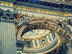 We love the light and the captivating angle Randy OHC created in this photo, inside St Peter's Basilica.   http://www.flickr.com/photos/mariya_umama_wethemba_monastery/3538527355/