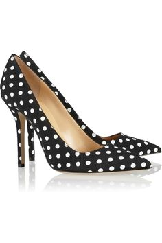 Perfect pointy polka dot pumps! :: Sassy and business appropriate:: Polka Dot Pumps:: Pin Up Girl Heels