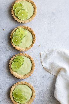 mini vegan key lime pies