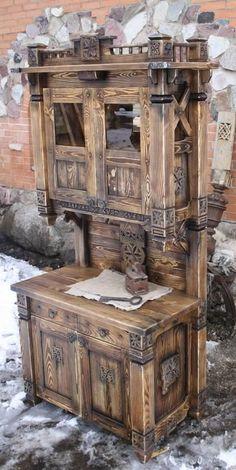 Diy Pallet Furniture, Woodworking Furniture, Unique Furniture, Furniture Projects, Wood Furniture, Wood Projects, Woodworking Projects, Furniture Design, Rustic Farmhouse Furniture