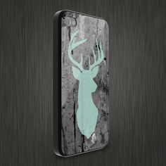 Guy gift Etsy Vinyl Varieties: Mint Deer Head Ultra Thin Snap Case for iPhone 4/4s or 5/5s