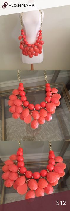 Coral Beaded Necklace |Anthropologie| Coral Beaded necklace Anthropologie Jewelry Necklaces