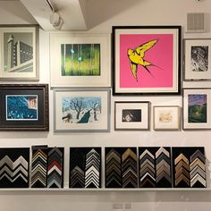 """For Arts Sake on Instagram: """"A first glimpse of our gorgeous and eclectic new December hang 💖 Browse the best in contemporary British printmaking alongside our vast…"""""""