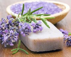 lavender soap...lavender fragrance is known to relieve stress