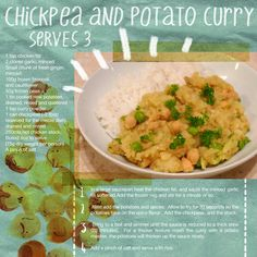 Chickpea & Potato Curry | Live Below the Line with Natural Kitchen Adventures. Images illustrated by livebelowtheline.com /  zoekelland.co.uk