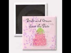 Pretty Wedding Save the Date Magnets...