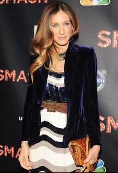 velvet not only looks good but keeps you warm! SJP
