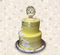 Yellow 50 by MsTreatz - http://cakesdecor.com/cakes/299145-yellow-50