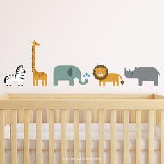 Safari Animal Wall Decals https://maxwillstudio.com/products/safari-animal-wall-decals